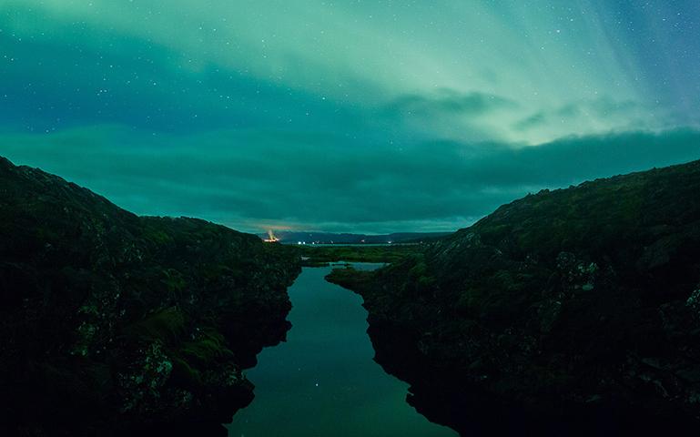 Silfra in Iceland - mobile
